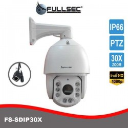 Câmera Speed Dome IP 2MP FullHD 1080p 100 metros zoom óptico 30x FS-SDIP30X