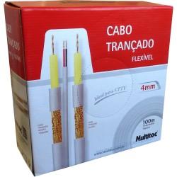 Cabo Trançado 4mm + 2x26 AWG-75 CFTV
